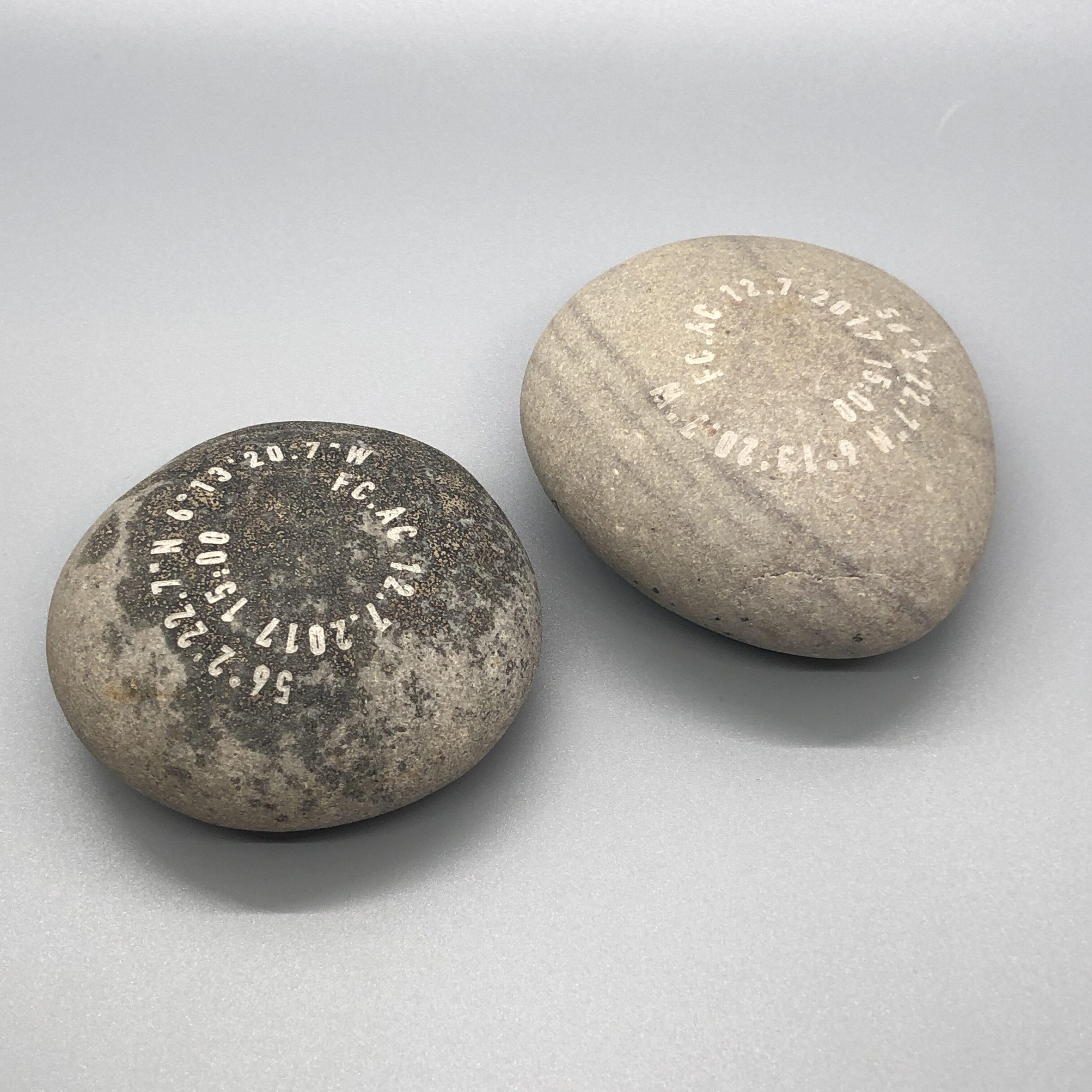 laser engraved stones