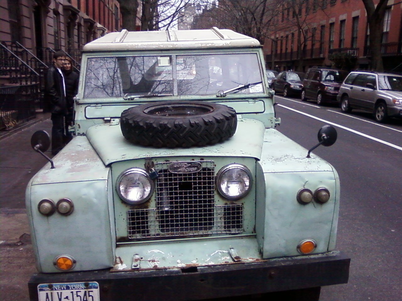 A Land Rover Series 2 in New York
